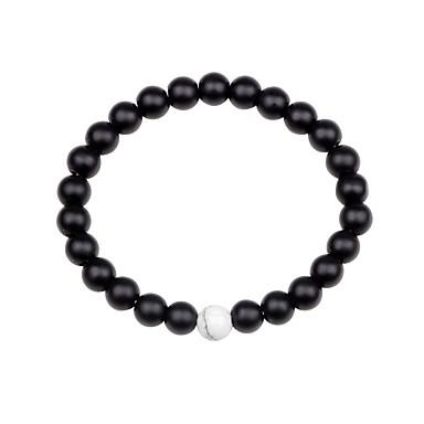 billige Motearmbånd-Dame Unisex Obsidian Perlearmbånd chakra Fargerik Agat Armbånd Smykker Svart / Brun / Grønn Til Gave Ut på byen