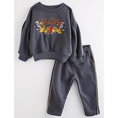 Kinder Mädchen Zitate & Sprüche Langarm Baumwolle Kleidungs Set