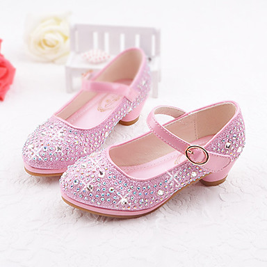 Girls' Shoes Synthetic Microfiber PU Spring & Summer Comfort / Novelty / Flower Girl Shoes Flats Rhinestone / Buckle for Gold / Silver /