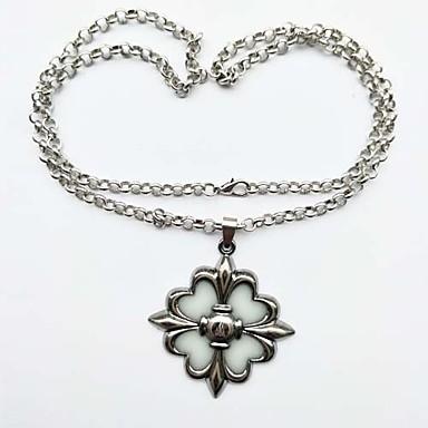 levne Světelné šperky-Pánské Dámské Náhrdelníky s přívěšky Vintage Svítící Kov Slitina Stříbrná Náhrdelníky Šperky 1 Pro Obřad Karneval