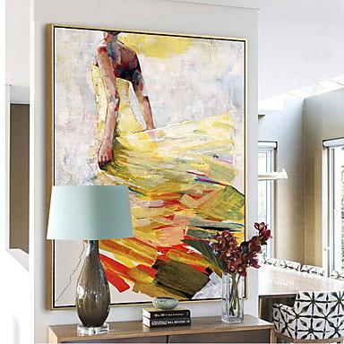 billige Innrammet kunst-Abstrakt Olje Maleri Veggkunst,Legering Materiale med ramme For Hjem Dekor Rammekunst Soverom Spisestue