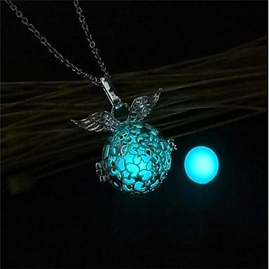 7e8ce06161fa Mujer Collares con colgantes Collar de medallones damas Moda Luminoso  Luminoso Naranja Azul Claro Verde claro Gargantillas Joyas 1 Para Navidad  Bar