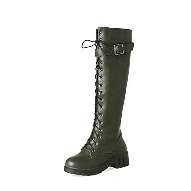 Automne Chaussures 06455876 Bout à Talon Bottes boîtes la de Mode Bottier Similicuir Bottes Bottes Cavalières Hiver rond Femme Combat Bottes dHEqd