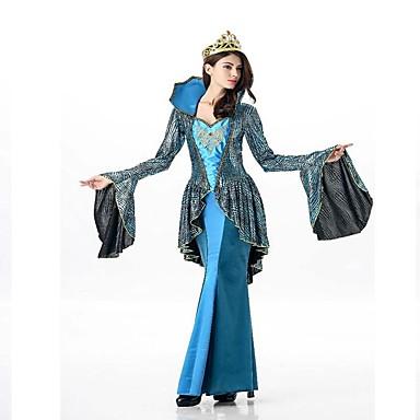 Lolita Klasyczna i Tradycyjna Starożytna Grecja Damskie Sukienki Cosplay Ciemnozielony Motylkowy Długi rękaw Do kostki Maxi