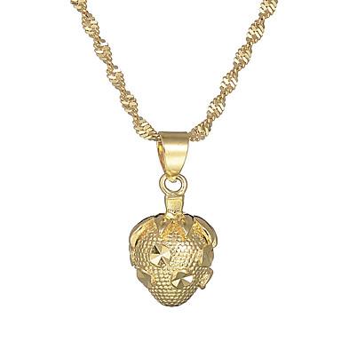 billige Mote Halskjede-Dame Anheng Halskjede Jordbær Vintage Grunnleggende Kobber Gull Halskjeder Smykker 1 Til Gave Formell