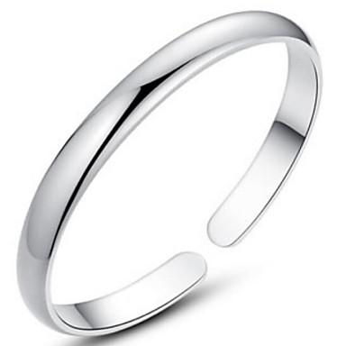 baratos Bangle-Mulheres Bracelete Prata de Lei Pulseira de jóias Prata Para Presentes de Natal Casamento Festa Diário Casual