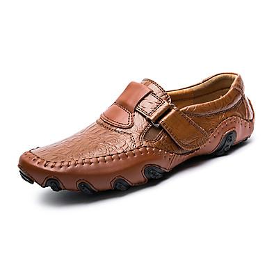Męskie Komfortowe buty Skóra / Derma Wiosna / Jesień Mokasyny i buty wsuwane Czarny / Brązowy