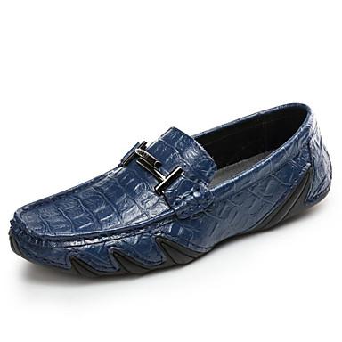 Męskie Buty PU Jesień Comfort Mokasyny i pantofle White / Black / Light Blue