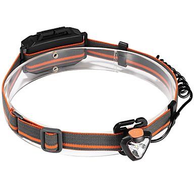 billige Lommelykter & campinglykter-Hodelykter Lykte stropper sikkerhet lys 120 lm LED emittere 1 lys tilstand Camping / Vandring / Grotte Udforskning Dagligdags Brug Sykling