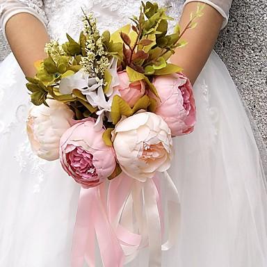 Kwiaty ślubne Bukiety Ślub / Przyjęcie / Wieczór Inny materiał / Poliester 11,8