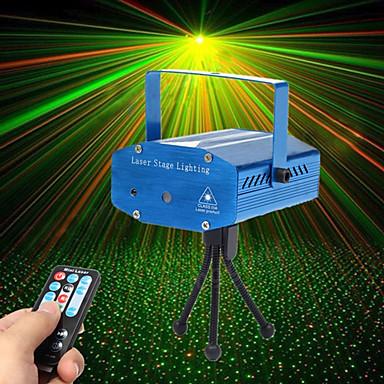 U'King Światło sceniczne laserowe Aktywowana Dźwiękiem Pilot zdalnego sterowania Aktywacja muzyką 10 na Do domu Klub Ślub Scena Impreza