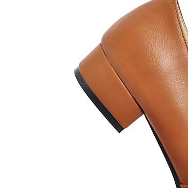 Bout Automne Talon Femme carré pour Bureau Chaussons et 06439774 D6148 Mocassins et Printemps Boucle Bottier Confort Polyuréthane Chaussures zrqUwrxPt