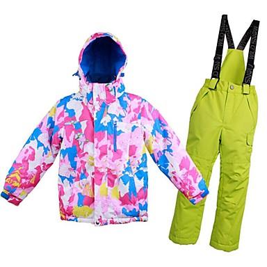 Dla dziewczynek Dla chłopców Kurtka i spodnie narciarskie Ciepły Wentylacja Wiatroodporna Zdatny do noszenia wodoodporne Narciarstwo