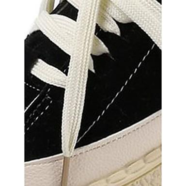 Zapatillas Negro Rojo PU Beige Tacón de Confort redondo Plano Zapatos Invierno deporte 06421888 Dedo Mujer wP5IqO