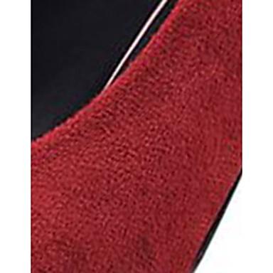 Tacón Mujer Stiletto Pump Rojo Otoño Invierno 06430936 PU Zapatos Tacones Básico Dedo Confort Negro Amarillo Puntiagudo rTnwTH8qSx