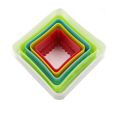 Narzędzia do pieczenia Tworzywa sztuczne Narzędzie do pieczenia Chleb Tort Kwadrat Foremki do ciasta 1 zestaw