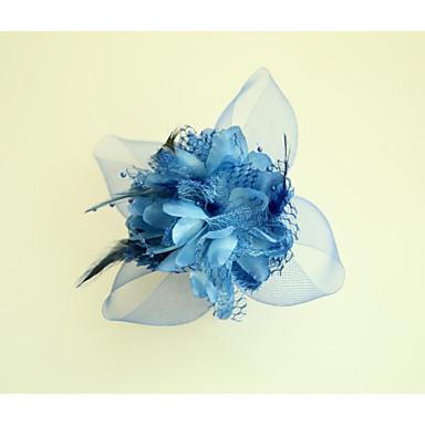Pokryte piórami / Materiał / Poliester Kwiaty z Kwiat 1szt Ślub / Specjalne okazje Winieta