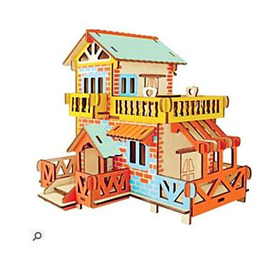 voordelige 3D-puzzels-3D-puzzels Houten puzzels Modelbouwsets Mode Huis Nieuw Design DHZ 1 pcs Klassiek Modieus Kinderen Jongens Meisjes Speeltjes Geschenk