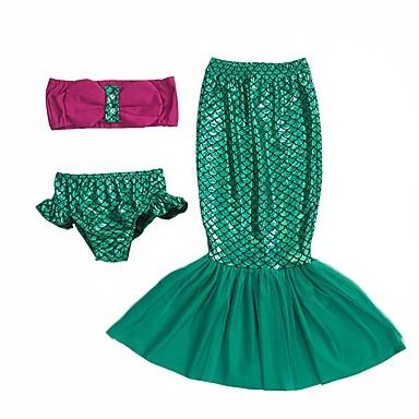 Lilla sjöjungfrun Kjolar Barn Halloween Halloween Festival   högtid  Polyester outfits Grön Sjöjungfru 6447557 2019 –  19.99 065a24847876a