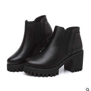 Chaussures Talon Bout fermé 06451666 Botte Bottine Demi Bottier Femme Bottes Confort Hiver Automne Noir Polyuréthane ddwq8Y