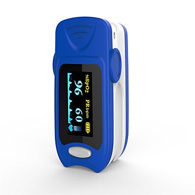 Dokładny pomiar saturacji krwi za pomocą czujnika ciśnienia fs20a oled z czujnikiem pulsoksymetru krwi z bateriami w kolorze niebieskim