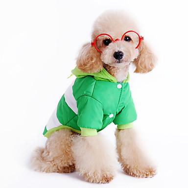 Pies Płaszcze Ubrania dla psów Naszywka Czerwony Green Niebieski Bawełna Kostium Dla zwierząt domowych Męskie Damskie Codzienne