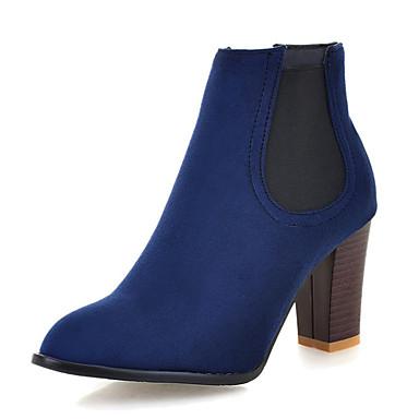 à Botillons la Bottier Mode Bleu 06421608 Talon Bottes Hiver Cuir Botte Bout Demi Bottes Automne Chaussures rond Bottine Vert Nubuck Femme 7Yzq1q