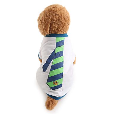 Σκύλος Φανέλα Ρούχα για σκύλους Ριγέ Λευκό Βαμβάκι Στολές Για κατοικίδια Ανδρικά Γιορτή Μοντέρνα