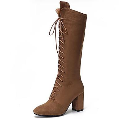 Mujer Zapatos Cuero Patentado Otoño / Invierno Botas de nieve / Botas de Moda / Botas de Combate Botas Tacón Cuadrado Dedo redondo Réduction Nouvelle Arrivée Vente Pas Cher Explorer z8Za0BBJ3E