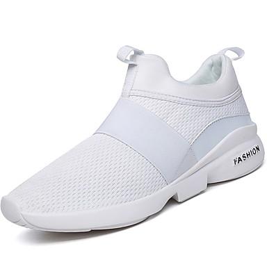 Męskie Buty Materiał Derma Materiał do wyboru Zima Jesień Comfort Buty do lekkiej atletyki Bieganie na Atletyczny Casual White Black
