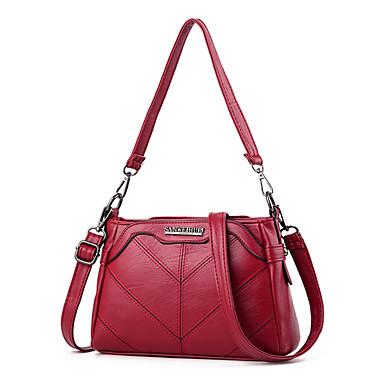 Mulheres Bolsas PU Bolsa de Ombro Bordado / Ziper para Casamento / Formal Vermelho / Rosa / Cinzento