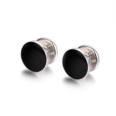 Circle Shape שחור חפתים סגסוגת אופנתי בגדי ריקוד גברים תכשיטי תלבושות עבור Party / מתנה