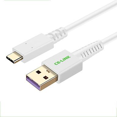 CE-Link USB 2.0 כבל, USB 2.0 to סוג USB 3.0 C כבל זכר-נקבה 0.5M (1.5Ft) 480 Mbps