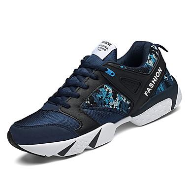 טול / PU אביב / סתיו נוחות נעלי אתלטיקה סִיסמָה שחור / כחול כהה / אדום / ריצה