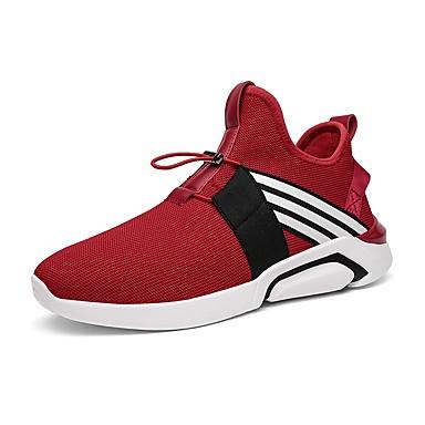 נעליים PU אביב סתיו נוחות נעלי אתלטיקה ל אתלטי קזו'אל שחור אפור אדום