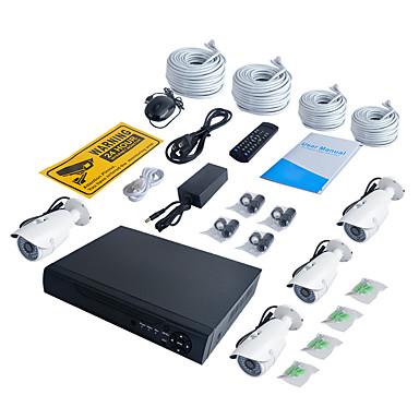 jooan® 4ch 1080p nvr con 2tb hdd 4pcs 2mp cámara poe ip a prueba de agua 100 pies de visión nocturna 48v de poder sobre ethernet