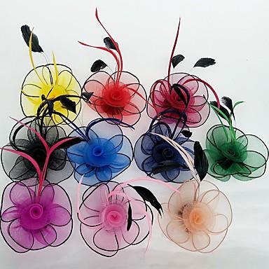 עור / רשת מפגשים / פרחים עם פרחוני 1pc חתונה / אירוע מיוחד כיסוי ראש