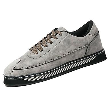 בגדי ריקוד גברים נעליים PU אביב / סתיו נוחות נעלי ספורט שחור / אפור