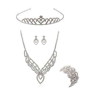 בגדי ריקוד נשים סט תכשיטים - יהלום מדומה שועל ארופאי, אופנתי לִכלוֹל נזרים / סטי תכשיטי כלה לבן עבור חתונה / Party