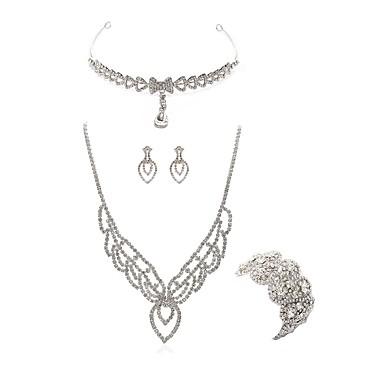 בגדי ריקוד נשים סט תכשיטים - יהלום מדומה ארופאי, אופנתי לִכלוֹל תכשיט מצח / סטי תכשיטי כלה לבן עבור חתונה / Party