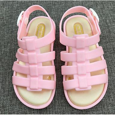 baratos Sapatos de Criança-Para Meninas PVC Sandálias Little Kids (4-7 anos) Conforto / Plástico Laranja / Fúcsia / Rosa claro Verão