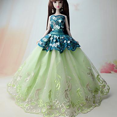 Prinzessin Kleider Für Barbie-Puppe Polyester Kleid Für Mädchen Puppe Spielzeug