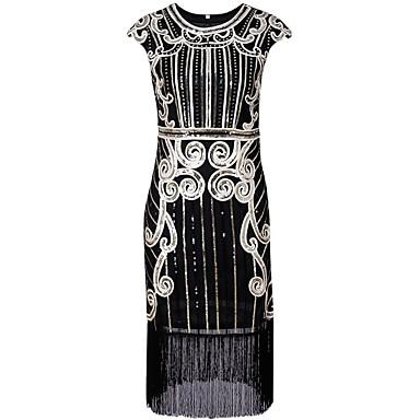 ann es 20 gatsby vingtaine costume femme robe clapet noir argent bleu vintage cosplay. Black Bedroom Furniture Sets. Home Design Ideas