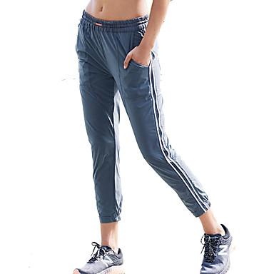 בגדי ריקוד נשים מכנסי ריצה - אפור כהה ספורט ספנדקס מכנסיים לבוש אקטיבי נשימה