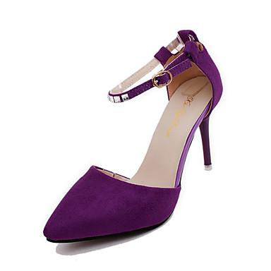 Damen Schuhe PU Frühling Sommer Komfort Gladiator Sandalen Flacher Absatz Offene Spitze Strass Imitationsperle Schnalle für Kleid Schwarz