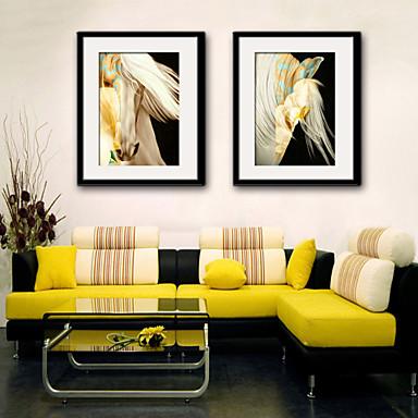 חיות איור וול ארט,PVC חוֹמֶר עם מסגרת For קישוט הבית אמנות מסגרת סלון פנימי