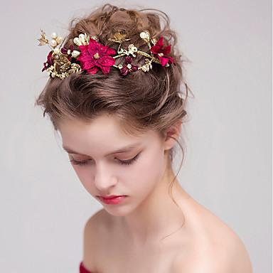 דמוי פנינה / סגסוגת רצועות עם דמוי פנינה 1pc חתונה / אירוע מיוחד כיסוי ראש