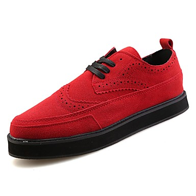 בגדי ריקוד גברים גומי סתיו / חורף נוחות נעלי ספורט שחור / אדום / כחול