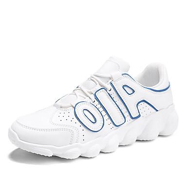 בגדי ריקוד גברים דמוי עור אביב / קיץ נוחות נעלי ספורט לבן / שחור / אדום