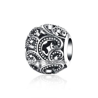 תכשיטים DIY 1 יח חרוזים כסוף שחור עגול חָרוּז 0.9 cm עשה זאת בעצמך שרשראות צמידים